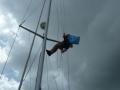 Windmeter stuk, even in de mast kijken of daar het probleem zit