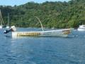 De vissersbootjes in Charlotteville