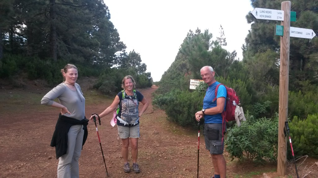 Mooie wandelingen gemaakt met Rob en Jaenette