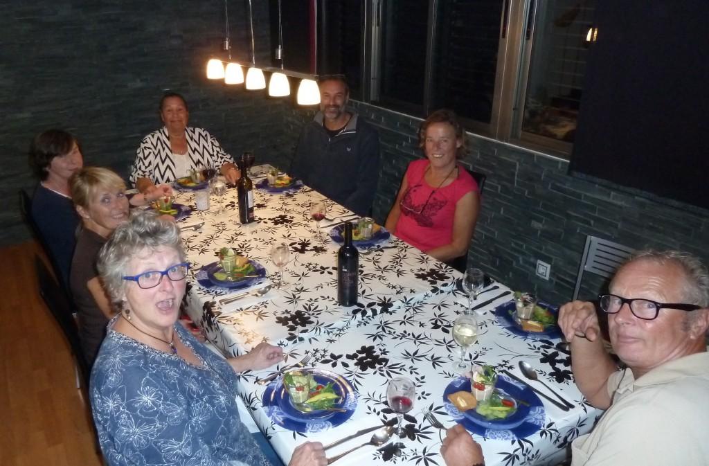 Gezellige avond bij Jannie en Jacco, heerlijk gegeten in hun AirB&B appartement in Las Palmas
